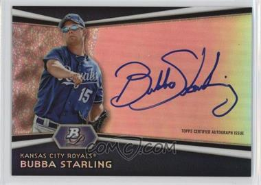 2012 Bowman Platinum - Autographed Prospects #AP-BS - Bubba Starling