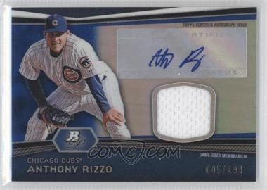 2012 Bowman Platinum - Autographed Relic - Blue Refractor #AR-AR - Anthony Rizzo /199