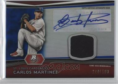 2012 Bowman Platinum - Autographed Relic - Blue Refractor #AR-CM - Carlos Martinez /199