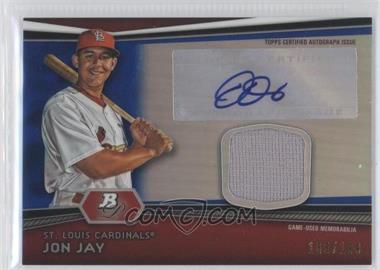 2012 Bowman Platinum - Autographed Relic - Blue Refractor #AR-JJ - Jon Jay /199