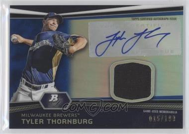 2012 Bowman Platinum - Autographed Relic - Blue Refractor #AR-TT - Tyler Thornburg /199