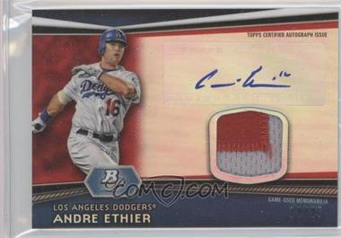 2012 Bowman Platinum - Autographed Relic - Red Refractor Patch #AR-AE - Andre Ethier /25
