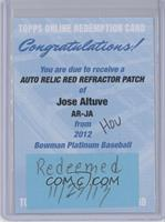 Jose Altuve /25 [REDEMPTION Being Redeemed]