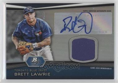 2012 Bowman Platinum - Autographed Relic #AR-BL - Brett Lawrie
