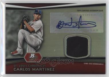 2012 Bowman Platinum - Autographed Relic #AR-CM - Carlos Martinez