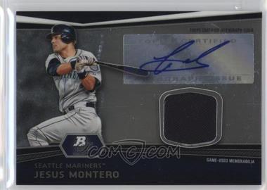 2012 Bowman Platinum - Autographed Relic #AR-JMO - Jesus Montero