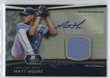 2012 Bowman Platinum - Autographed Relic #AR-MM - Matt Moore