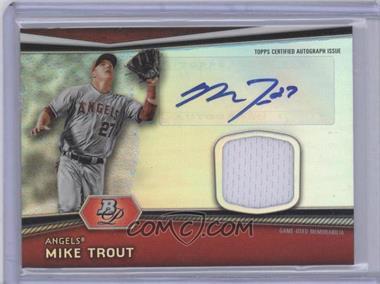 2012 Bowman Platinum - Autographed Relic #AR-MT - Mike Trout