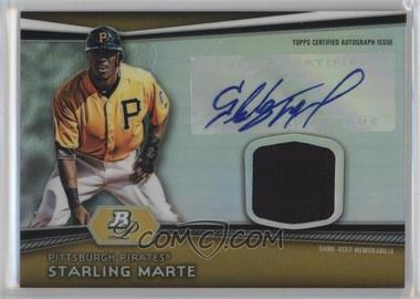 2012 Bowman Platinum - Autographed Relic #AR-SM - Starling Marte