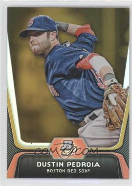 2012 Bowman Platinum - [Base] - Gold #19 - Dustin Pedroia