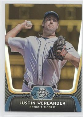 2012 Bowman Platinum - [Base] - Gold #37 - Justin Verlander