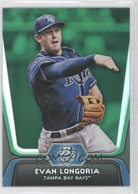 2012 Bowman Platinum - [Base] - Green #54 - Evan Longoria