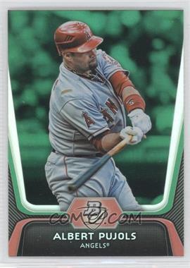 2012 Bowman Platinum - [Base] - Green #68 - Albert Pujols