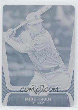 2012 Bowman Platinum - [Base] - Printing Plate Cyan #16 - Mike Trout /1