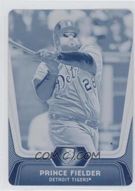 2012 Bowman Platinum - [Base] - Printing Plate Cyan #20 - Prince Fielder /1