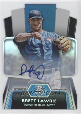 2012 Bowman Platinum - Cutting Edge Stars Die-Cut - Autographs [Autographed] #CES-BL - Brett Lawrie /25