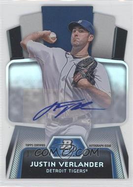 2012 Bowman Platinum - Cutting Edge Stars Die-Cut - Autographs [Autographed] #CES-JV - Justin Verlander /25