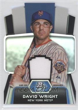 2012 Bowman Platinum - Cutting Edge Stars Die-Cut - Relics [Memorabilia] #CES-DW - David Wright /50