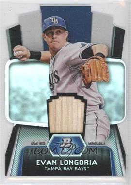 2012 Bowman Platinum - Cutting Edge Stars Die-Cut - Relics [Memorabilia] #CES-EL - Evan Longoria /50