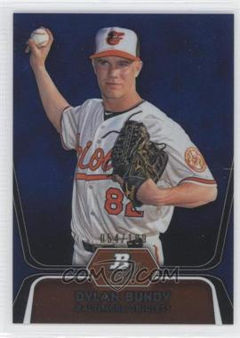 2012 Bowman Platinum - Prospects - Blue Refractor #BPP64 - Dylan Bundy /199