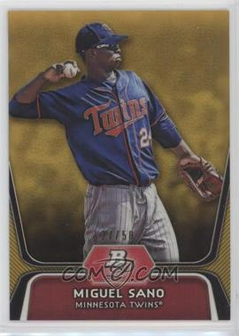 2012 Bowman Platinum - Prospects - Gold Refractor #BPP39 - Miguel Sano /50