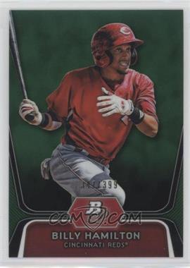 2012 Bowman Platinum - Prospects - Green Refractor #BPP16 - Billy Hamilton /399