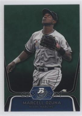 2012 Bowman Platinum - Prospects - Green Refractor #BPP31 - Marcell Ozuna /399