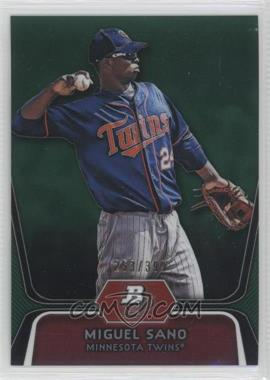 2012 Bowman Platinum - Prospects - Green Refractor #BPP39 - Miguel Sano /399