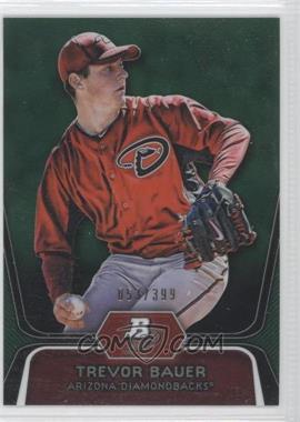2012 Bowman Platinum - Prospects - Green Refractor #BPP4 - Trevor Bauer /399