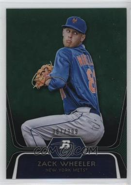 2012 Bowman Platinum - Prospects - Green Refractor #BPP48 - Zack Wheeler /399