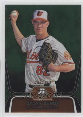 2012 Bowman Platinum - Prospects - Green Refractor #BPP64 - Dylan Bundy /399