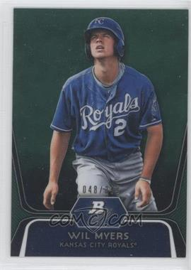 2012 Bowman Platinum - Prospects - Green Refractor #BPP80 - Wil Myers /399