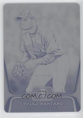 2012 Bowman Platinum - Prospects - Printing Plate Black #BPP58 - Jonathan Galvez /1