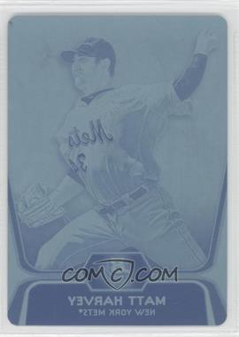 2012 Bowman Platinum - Prospects - Printing Plate Cyan #BPP18 - Matt Harvey /1