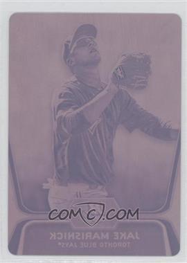 2012 Bowman Platinum - Prospects - Printing Plate Magenta #BPP53 - Jake Marisnick /1