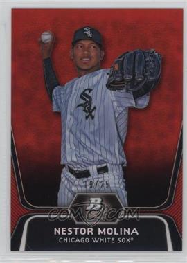 2012 Bowman Platinum - Prospects - Red Refractor #BPP55 - Nestor Molina /25