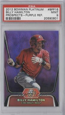 2012 Bowman Platinum - Prospects - Retail Purple Refractor #BPP16 - Billy Hamilton [PSA 9]