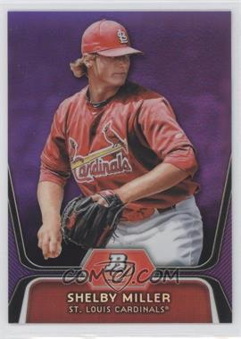 2012 Bowman Platinum - Prospects - Retail Purple Refractor #BPP27 - Shelby Miller