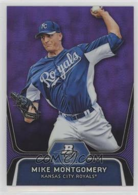 2012 Bowman Platinum - Prospects - Retail Purple Refractor #BPP28 - Mike Montgomery