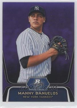 2012 Bowman Platinum - Prospects - Retail Purple Refractor #BPP3 - Manny Banuelos