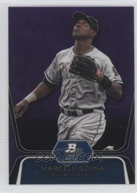 2012 Bowman Platinum - Prospects - Retail Purple Refractor #BPP31 - Marcell Ozuna