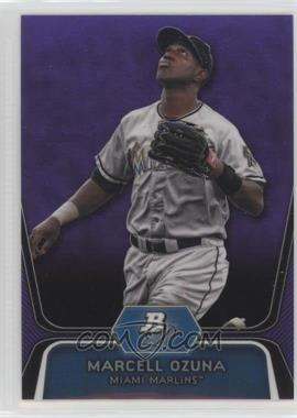2012 Bowman Platinum - Prospects - Retail Purple Refractor #BPP31 - Marcell Ozuna