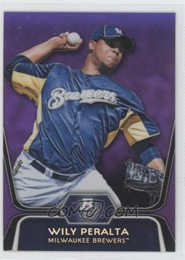2012 Bowman Platinum - Prospects - Retail Purple Refractor #BPP33 - Wily Peralta