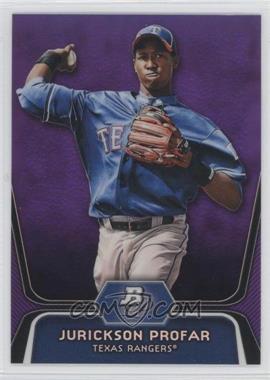 2012 Bowman Platinum - Prospects - Retail Purple Refractor #BPP35 - Jurickson Profar