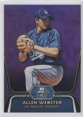 2012 Bowman Platinum - Prospects - Retail Purple Refractor #BPP47 - Allen Webster