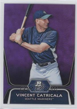 2012 Bowman Platinum - Prospects - Retail Purple Refractor #BPP59 - Vinnie Catricala