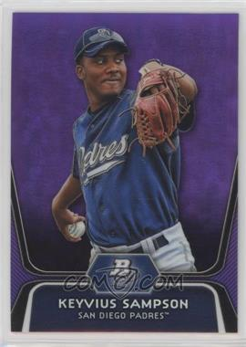2012 Bowman Platinum - Prospects - Retail Purple Refractor #BPP60 - Keyvius Sampson