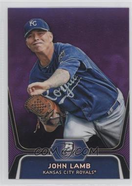 2012 Bowman Platinum - Prospects - Retail Purple Refractor #BPP63 - John Lamb