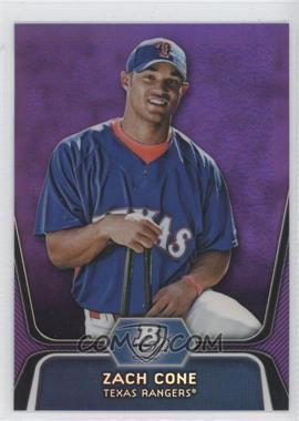 2012 Bowman Platinum - Prospects - Retail Purple Refractor #BPP71 - Zach Cone