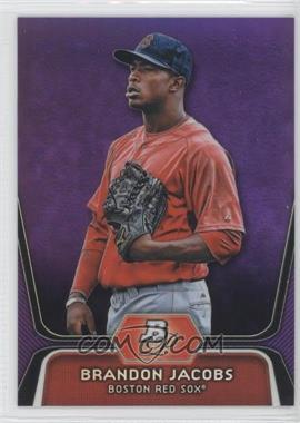 2012 Bowman Platinum - Prospects - Retail Purple Refractor #BPP72 - Brandon Jacobs